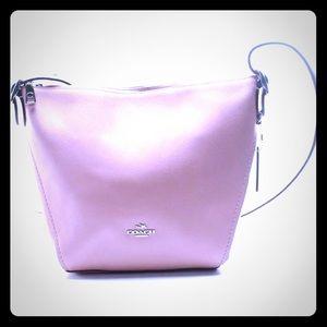 New Coach Pink Peony Leather Handbag
